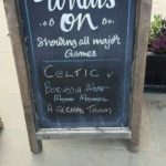 Geiler werben mit dem Kundenstopper Celtic